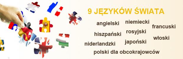 angielski niemiecki francuski hiszpański włoski rosyjski niderlandzki japoński